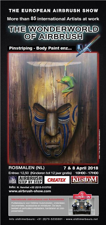 beurs agenda airbrush en pinstripe winkel lion art