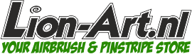 Logo Airbrush en Pinstripe Winkel Lion-Art