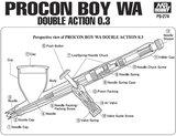 Creos/mrHobby Mr Procon Boy  Airbrush 0.3mm_