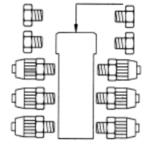 Verdeler 6x 4x6 slang