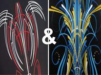 Stripe/scroll Starters Set