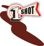 One Shot Maroon Spuitbus