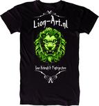 Lion-Art T-Shirt Zwart