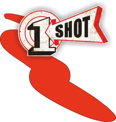 One Shot Bright Red Spuitbus