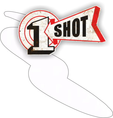 One Shot Lettering white 946ml