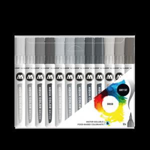 Molotow Aqua Brush Grey Set (12)