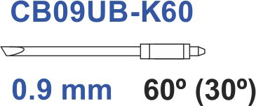 Graphtec plotter mes 60º 0,9mm