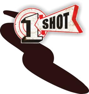 One Shot Medium Brown Spuitbus