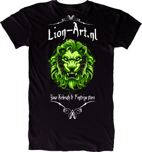 Lion-Art T-Shirt Zwart